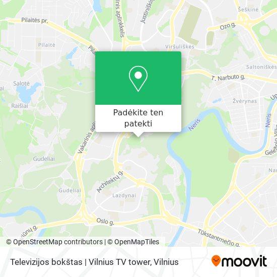 Televizijos bokštas | Vilnius TV tower žemėlapis