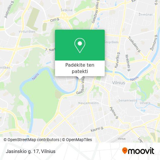 Jasinskio g. 17 žemėlapis