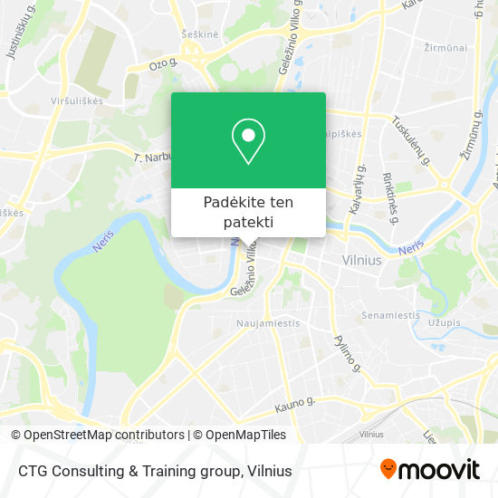 CTG Consulting & Training group žemėlapis