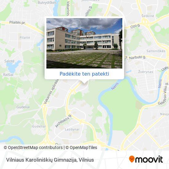 Vilniaus Karoliniškių Gimnazija žemėlapis