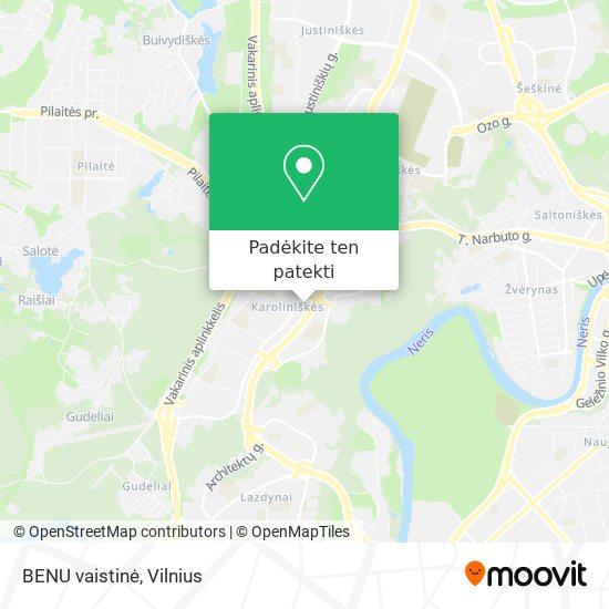 BENU vaistinė žemėlapis