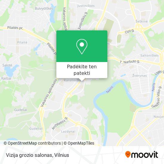 Vizija grozio salonas žemėlapis