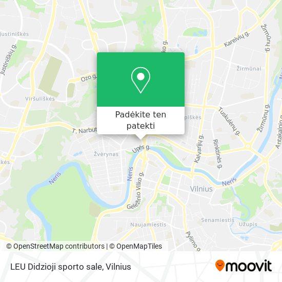 LEU Didzioji sporto sale žemėlapis