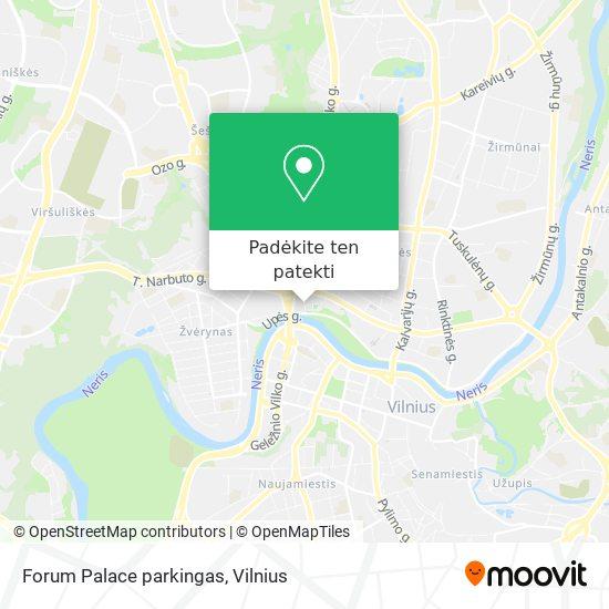 Forum Palace parkingas žemėlapis