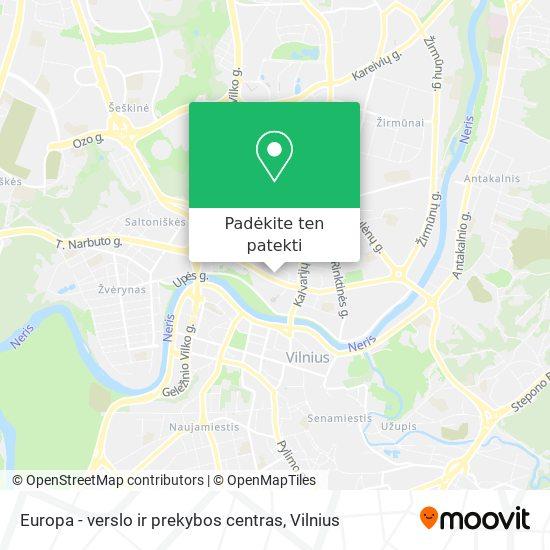 Europa - verslo ir prekybos centras žemėlapis