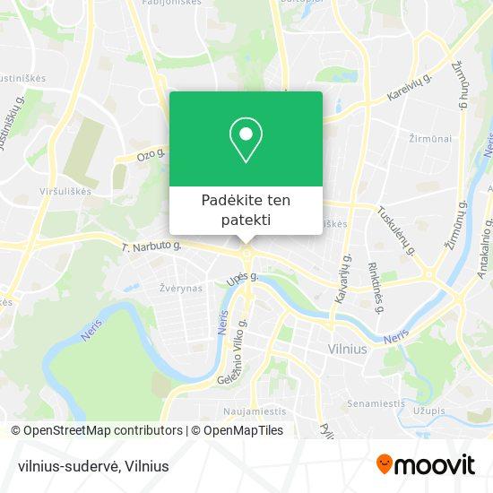 vilnius-sudervė žemėlapis