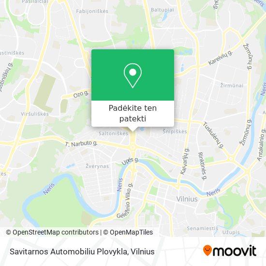 Savitarnos Automobiliu Plovykla žemėlapis