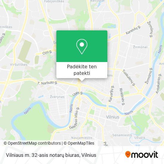 Vilniaus m. 32-asis notarų biuras žemėlapis