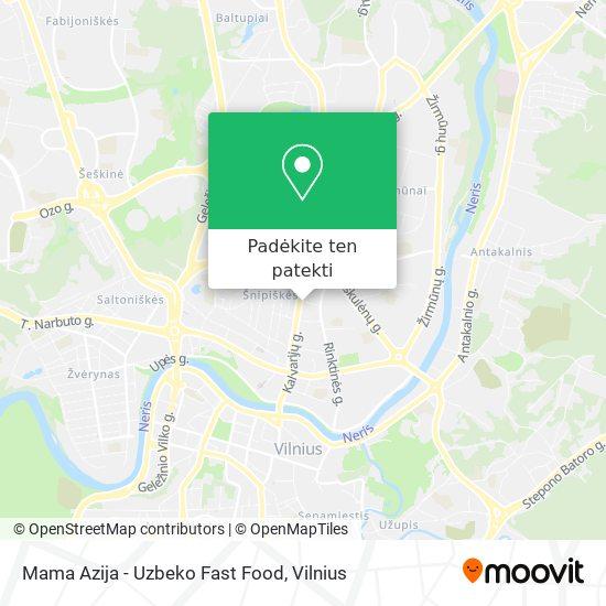 Mama Azija - Uzbeko Fast Food žemėlapis