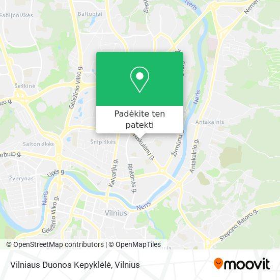 Vilniaus Duonos Kepyklėlė žemėlapis