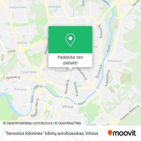 """""""Senosios kibininės"""" kibinų autobusiukas žemėlapis"""