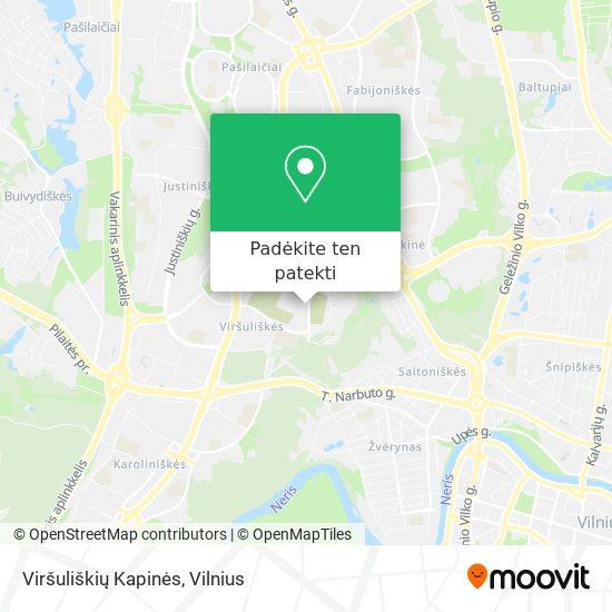 Viršuliškių Kapinės žemėlapis