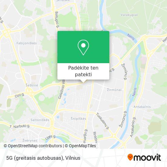 5G (greitasis autobusas) žemėlapis