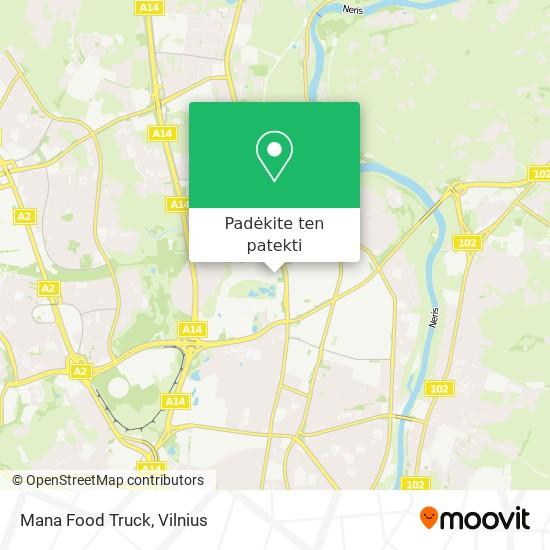 Mana Food Truck žemėlapis