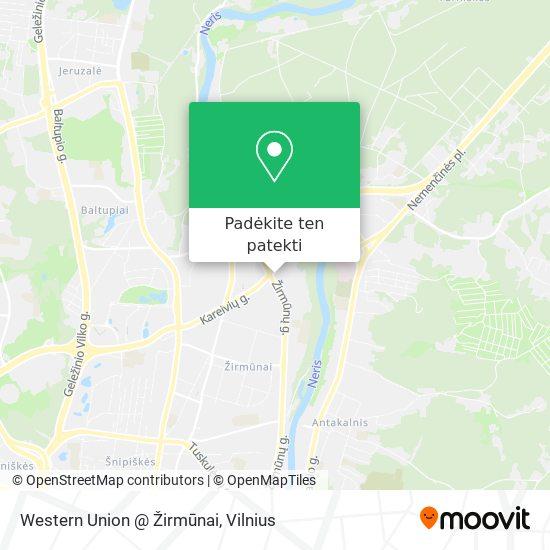 Western Union @ Žirmūnai žemėlapis