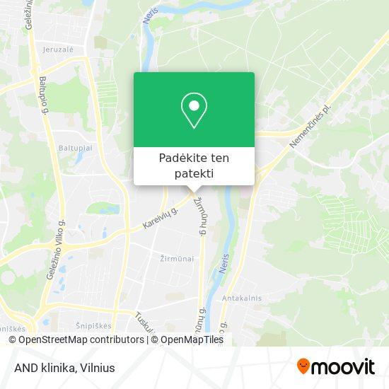 AND klinika žemėlapis