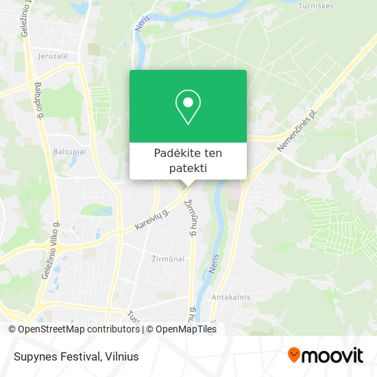 Supynes Festival žemėlapis