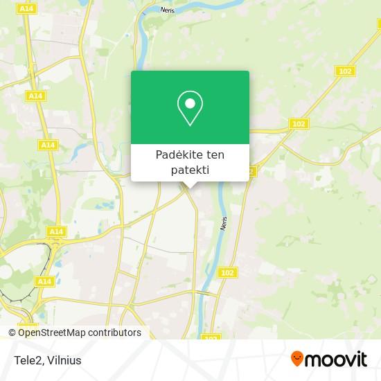 Tele2 žemėlapis