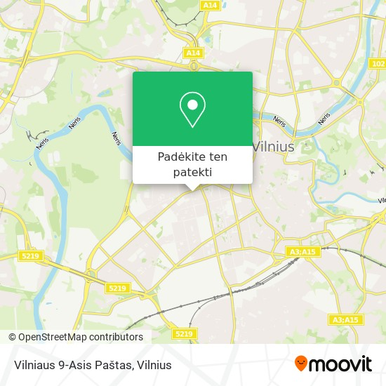 Vilniaus 9-Asis Paštas žemėlapis