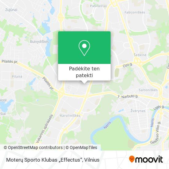 """Moterų Sporto Klubas """"Effectus"""" žemėlapis"""