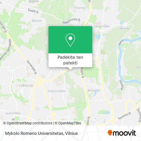 Mykolo Riomerio Universitetas žemėlapis