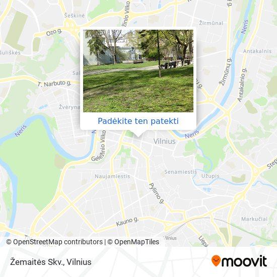 Žemaitės Skv. žemėlapis