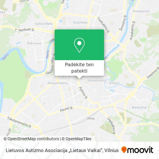 """Lietuvos Autizmo Asociacija """"Lietaus Vaikai"""" žemėlapis"""