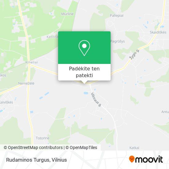 Rudaminos Turgus žemėlapis