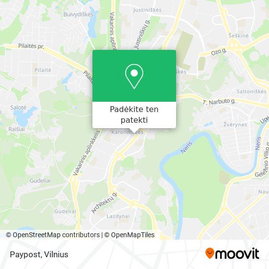 Paypost žemėlapis