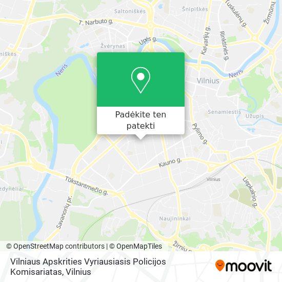 Vilniaus Apskrities Vyriausiasis Policijos Komisariatas žemėlapis