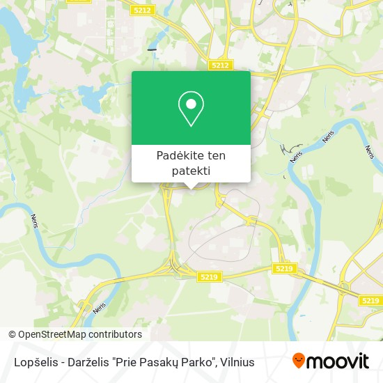 """Lopšelis - Darželis """"Prie Pasakų Parko"""" žemėlapis"""