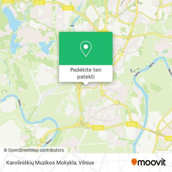 Karoliniškių Muzikos Mokykla žemėlapis