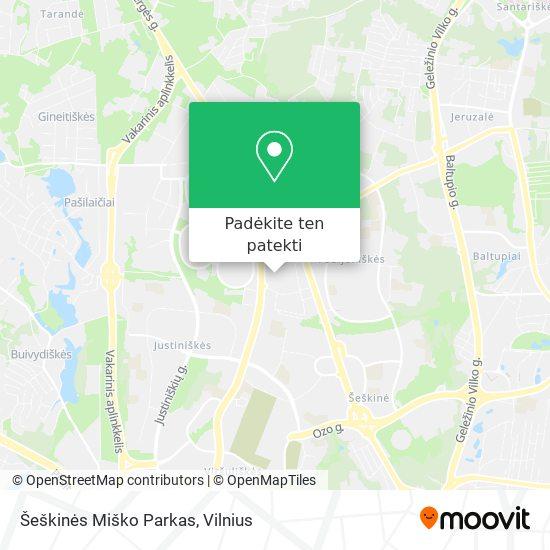 Šeškinės Miško Parkas žemėlapis