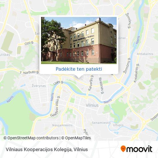 Vilniaus Kooperacijos Kolegija žemėlapis
