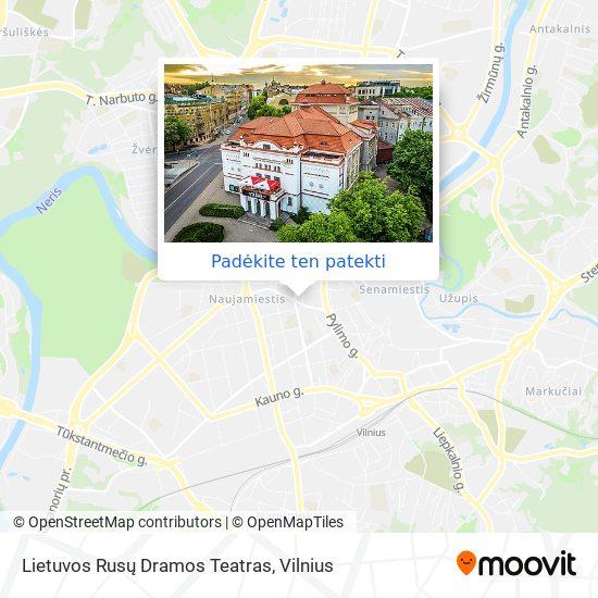Lietuvos Rusų Dramos Teatras žemėlapis