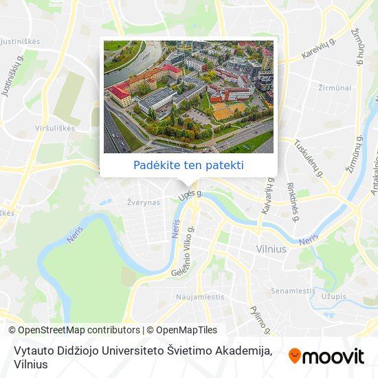 Lietuvos Edukologijos Universitetas žemėlapis