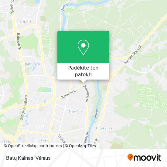Batų Kalnas žemėlapis