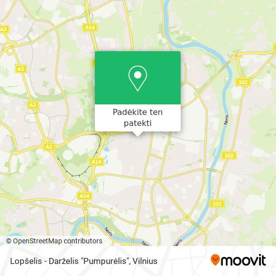 "Lopšelis - Darželis ""Pumpurėlis"" žemėlapis"