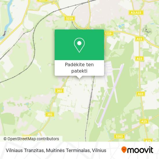 Vilniaus Tranzitas, Muitinės Terminalas žemėlapis