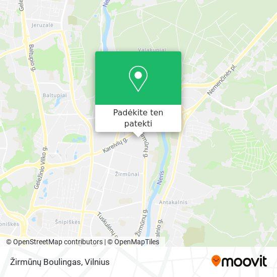 Žirmūnų Boulingas žemėlapis