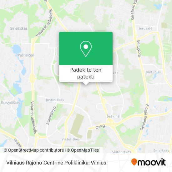 Vilniaus Rajono Centrinė Poliklinika žemėlapis