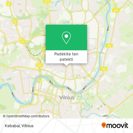 Kebabai žemėlapis