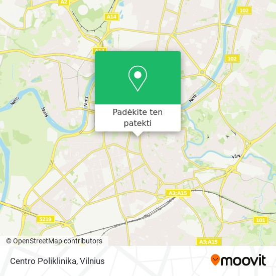 Centro Poliklinika žemėlapis