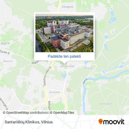 Santariškių Klinikos žemėlapis