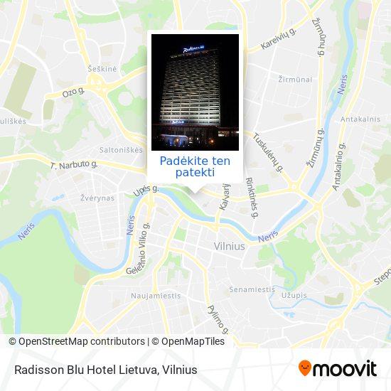 Radisson Blu Hotel Lietuva žemėlapis