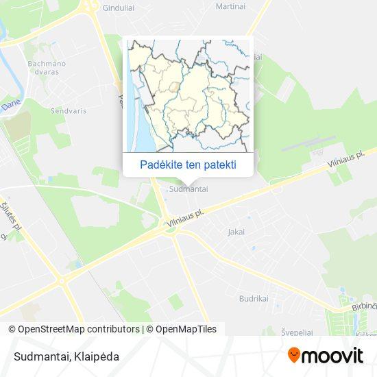 Sudmantai žemėlapis