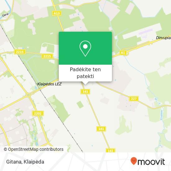 Gitana žemėlapis