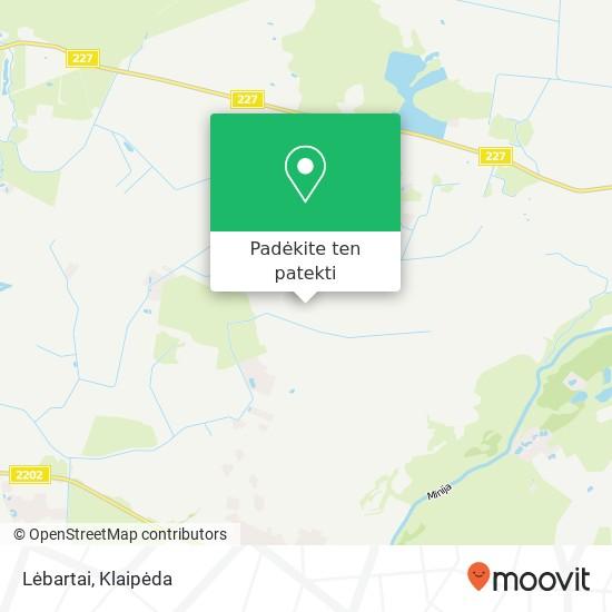 Lėbartai žemėlapis