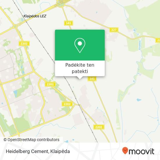 Heidelberg Cement žemėlapis