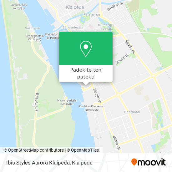 Ibis Styles Aurora Klaipeda žemėlapis